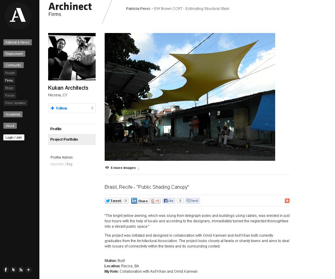Archinect - Public Shading Canopy