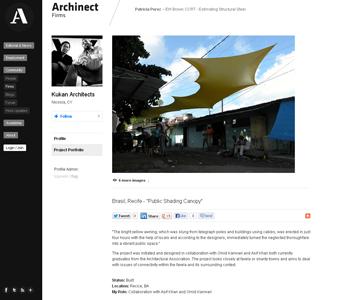 Archinect: Public Shading Canopy
