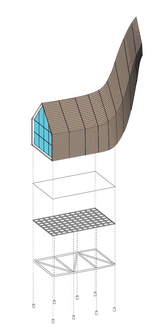 Kamvari Architects- Siberian Retreat- Exploded Diagram