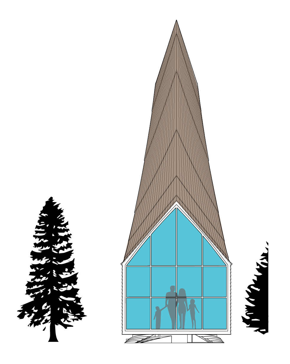 Kamvari Architects- Siberian Retreat- Front Elvation