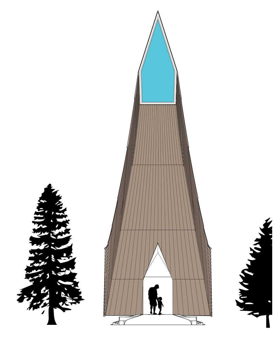 Kamvari Architects- Siberian Retreat- Rear Elvation